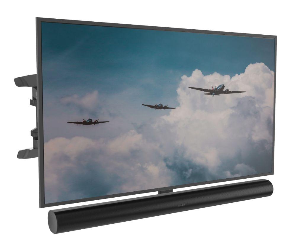 Tv Muurbeugel geschikt voor Sonos Arc zwart & Tv
