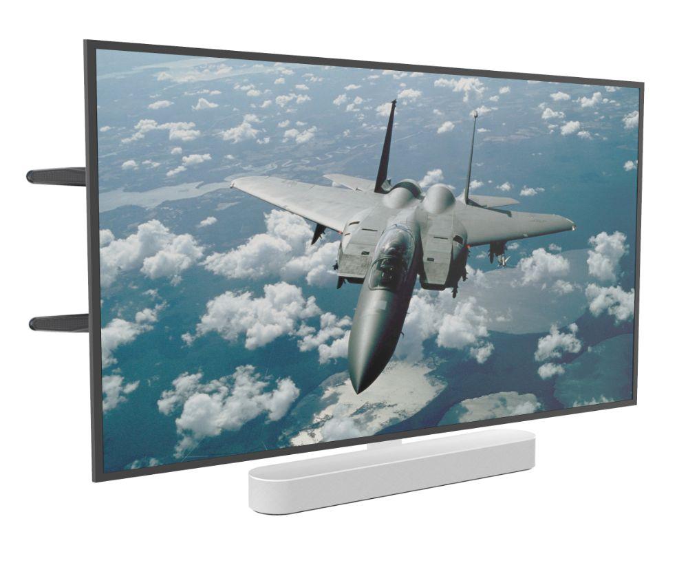 Tv Muurbeugel geschikt voor sonos beam wit & Tv