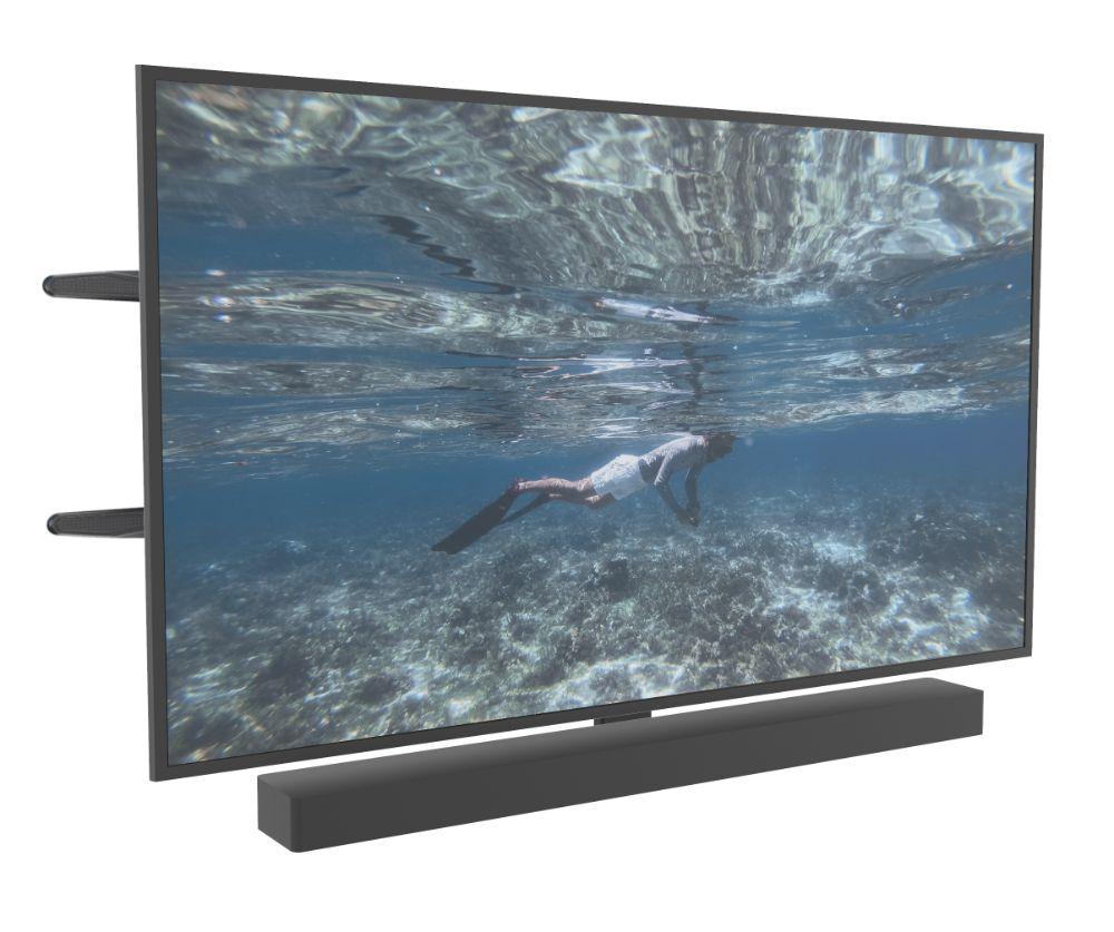 Cavus Full Motion Tv Muurbeugel geschikt voor soundbar & Tv - 35kg - multi-fit