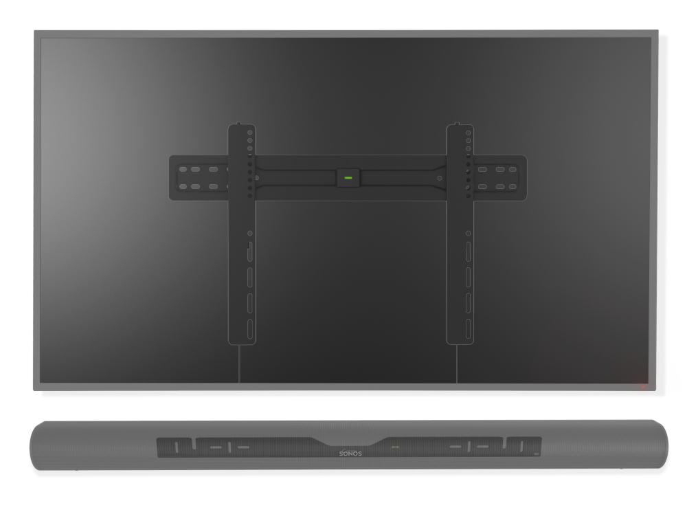 Muurbeugels vast geschikt voor Sonos Arc zwart & 37-70 Inch televisie