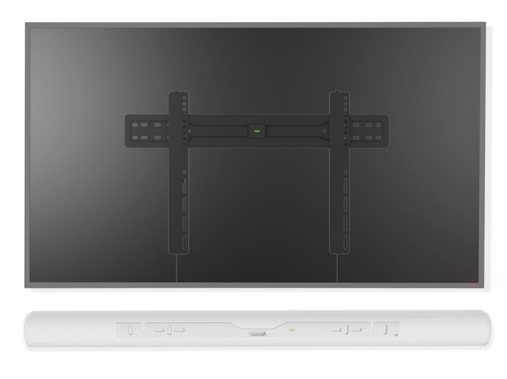 Muurbeugels vast geschikt voor Sonos Arc wit & 37-70 Inch televisie