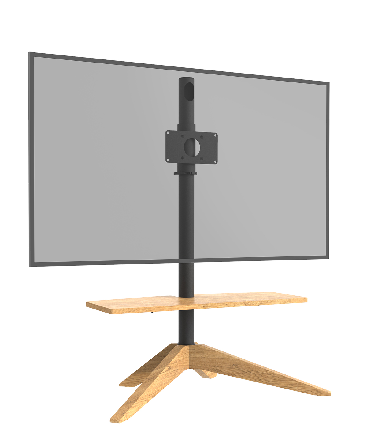 Cavus Tv vloerstandaard Cross Oak VESA 200x100