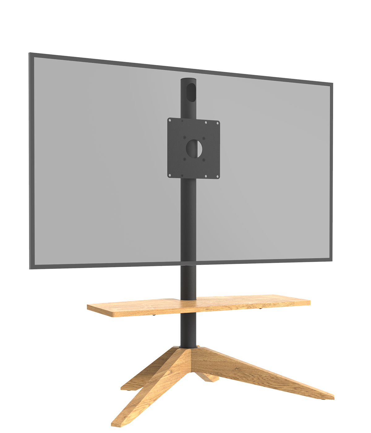 Cavus Tv vloerstandaard Cross Oak VESA 200x200