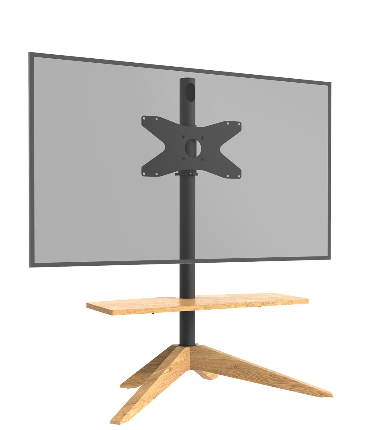 Cavus Tv vloerstandaard Cross Oak VESA 300x200
