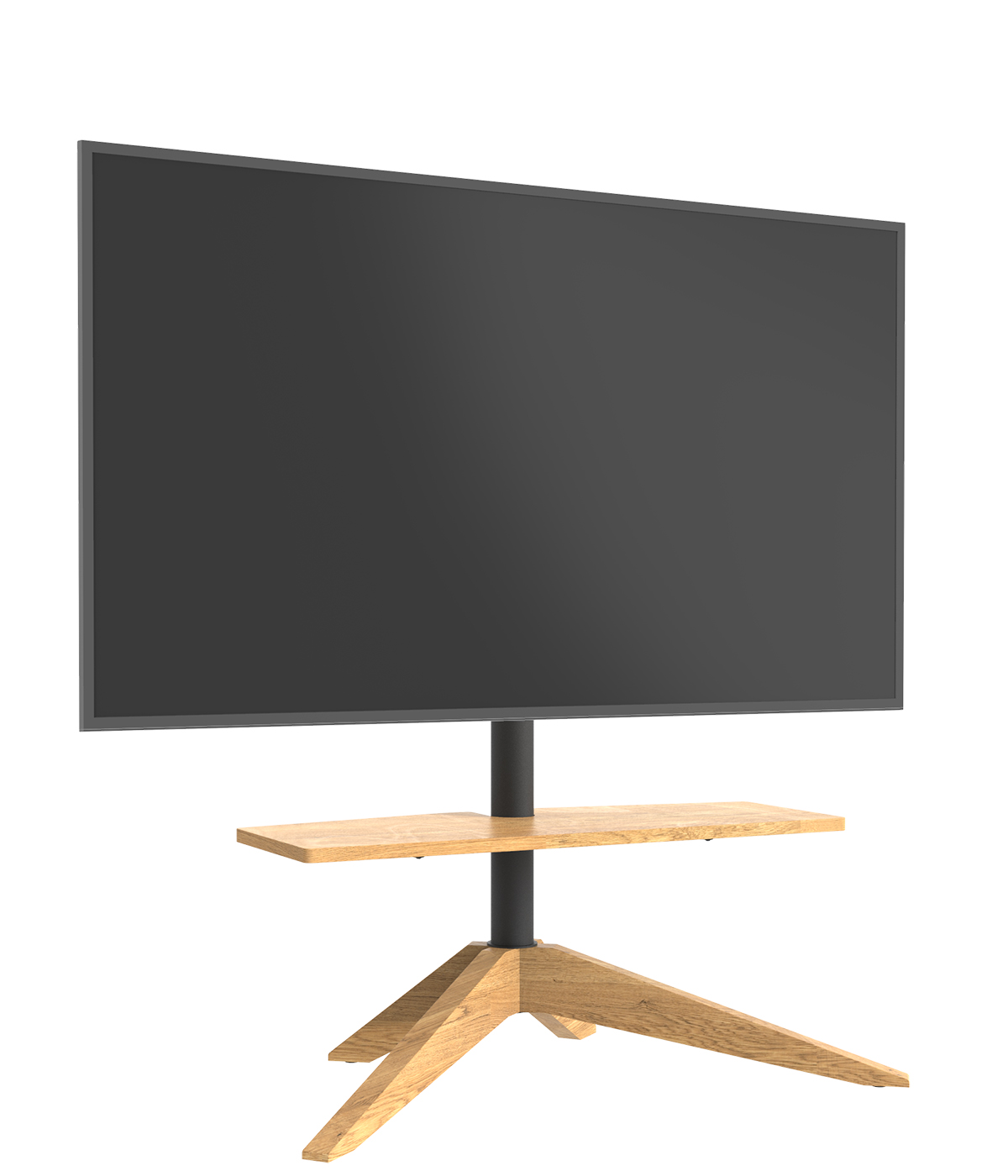 Cavus Tv vloerstandaard Cross Oak VESA 100x200