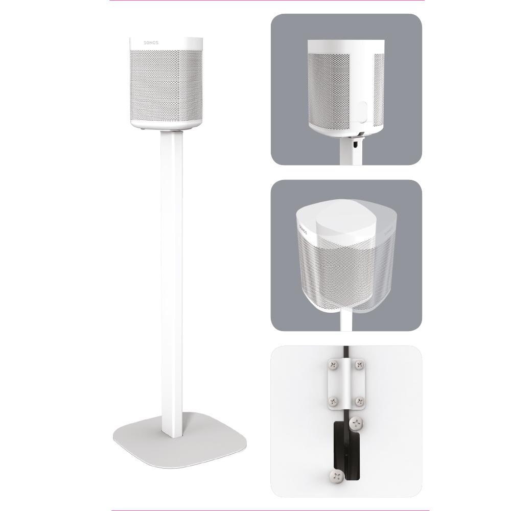 2 x Draaibare Speaker standaard voor Sonos ONE / One SL / Play:1 Wit