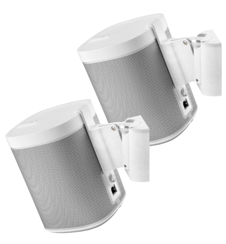 Muurbeugels Sonos PLAY:1 wit set