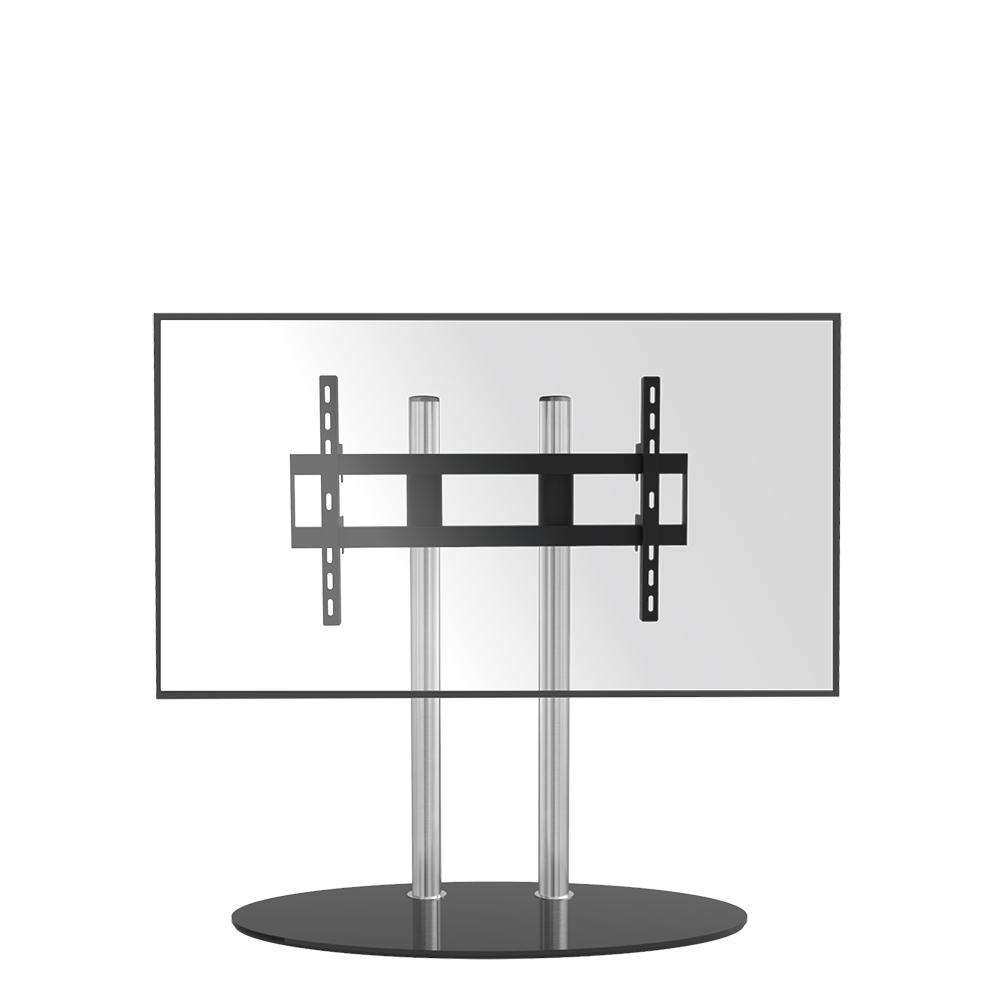TV VLOERSTANDAARD CAVUS DOUBLE 100 GLAS & RVS