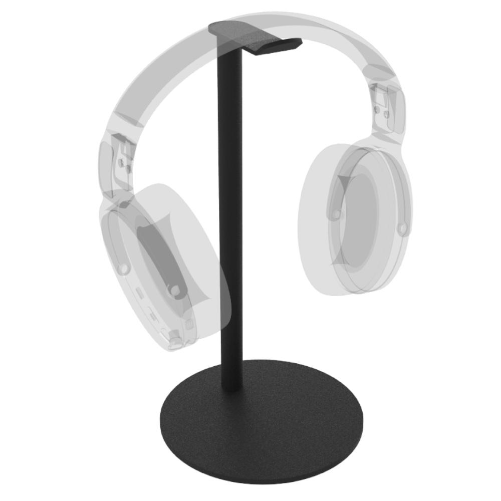 Hoofdtelefoon standaard Sphere – Trendy zwart staal