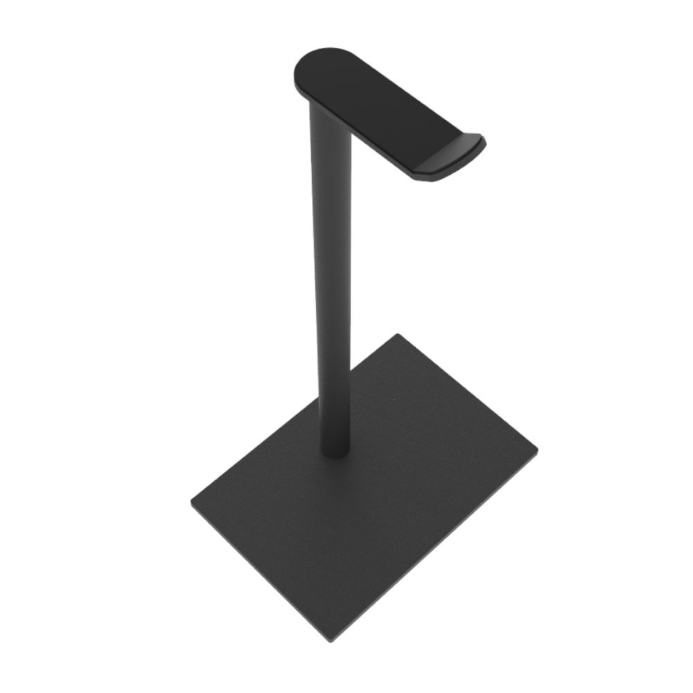 Hoofdtelefoon standaard Square – Trendy zwart staal