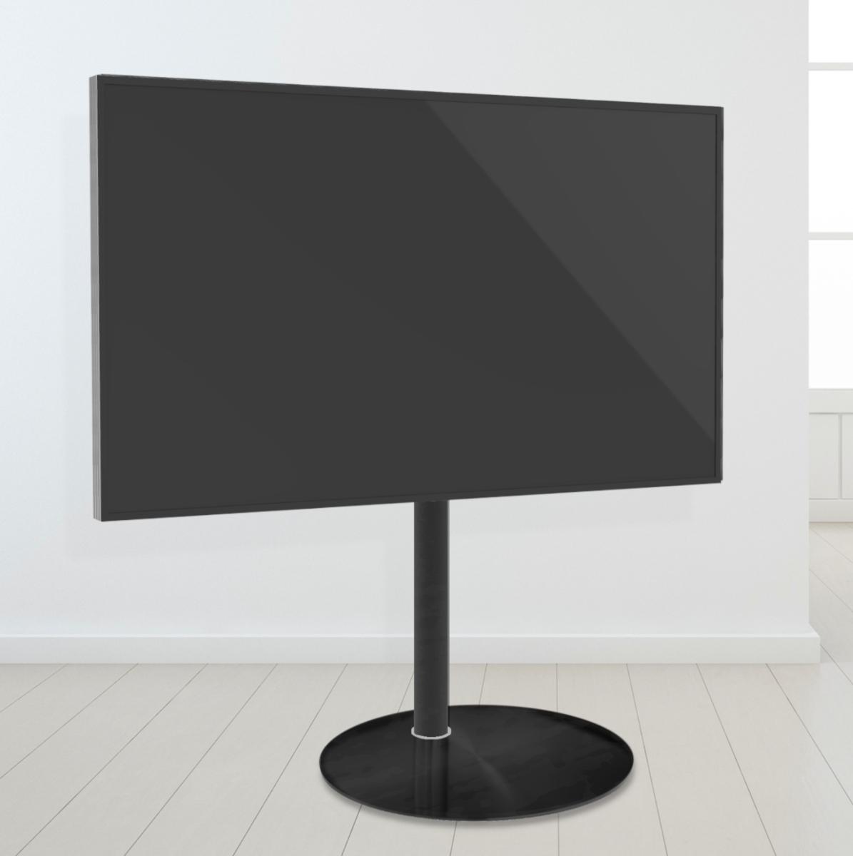 Tv Vloerstandaard Cavus Sphere100 Glas & trendy staal