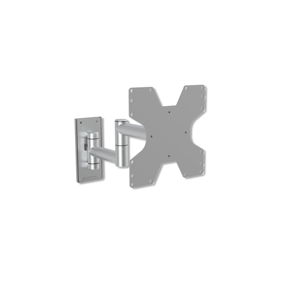 Luxe Full motion muurbeugel van geborsteld aluminium