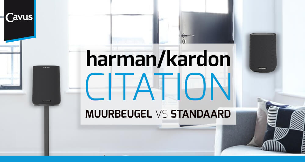 Harman Kardon Citation speakers ophangen of neerzetten
